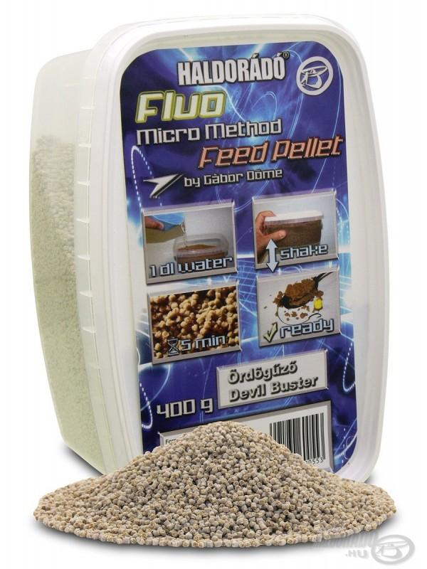 Fluo micro method feeder pellet - 400 g, Devil Buster