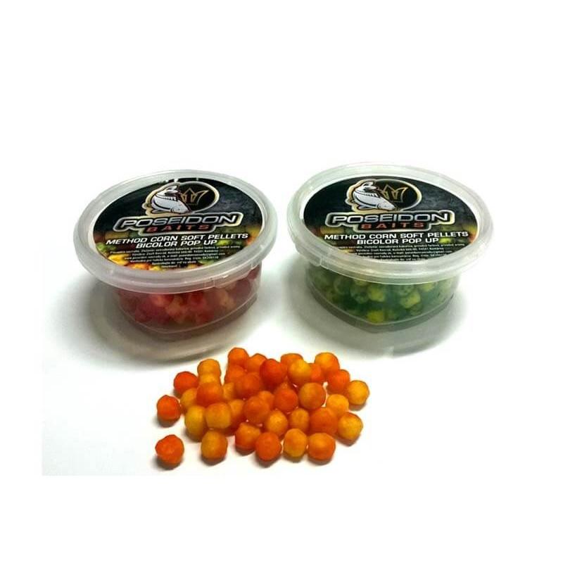 Method corn soft pellets bicolor pop up - 50 g, Jahoda
