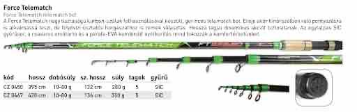 Force telematch + Taška, 3,95 m, 10-80 g