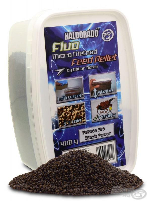 Fluo micro method feeder pellet - 400 g, Black power