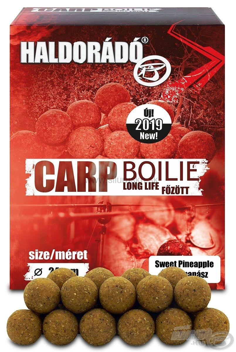 Carp boilie long life  - 800 g, 24 mm, Sladká Ananás