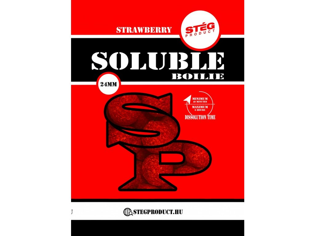Soluble boilie - 1000 g, 23 mm, Jahoda