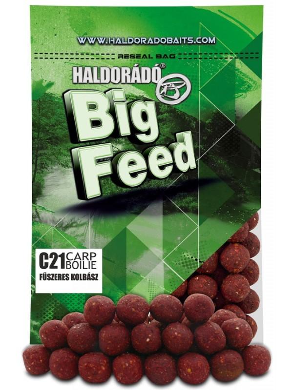 Big feed C21 carp boilie - 800 g, Korenistá klobása